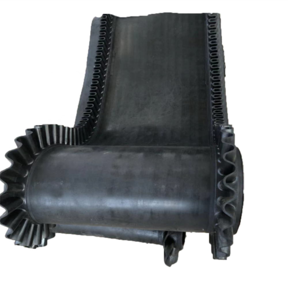 ENDLESS RUBBER CONVEYOR BELT OF WEIGH FEEDER EP50013-1200Wx3Px6x2x12500mm L with Slide Wall PR