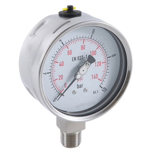 "2.5"" Stainless Steel Pressure Gauge with Safety Glass"
